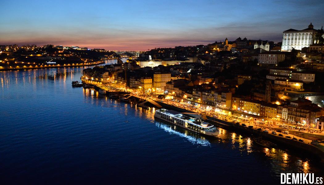 Ribeira de Oporto desde el puente