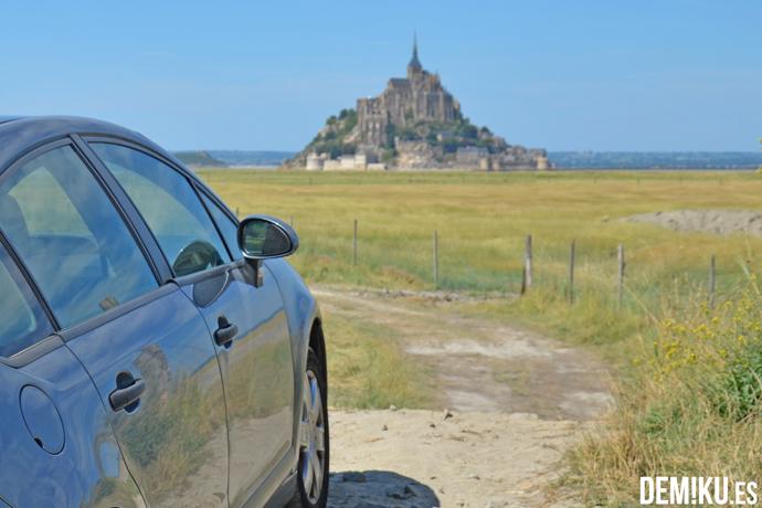 En coche hasta el Mont Saint Michel