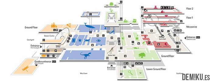 mapa-museo-ciencias-naturales-londres
