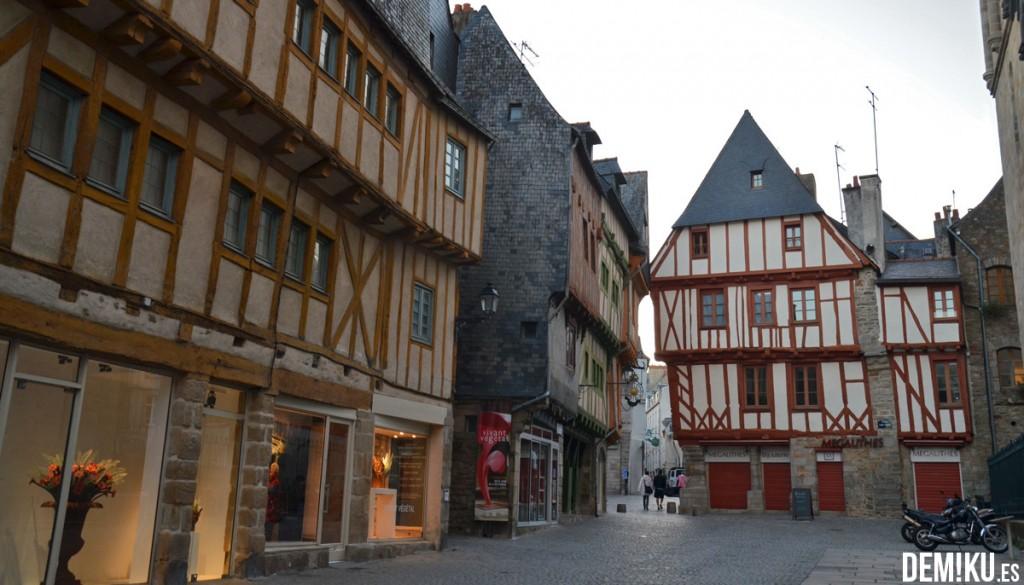 Casas bretonas en Vannes, Bretaña (Francia)