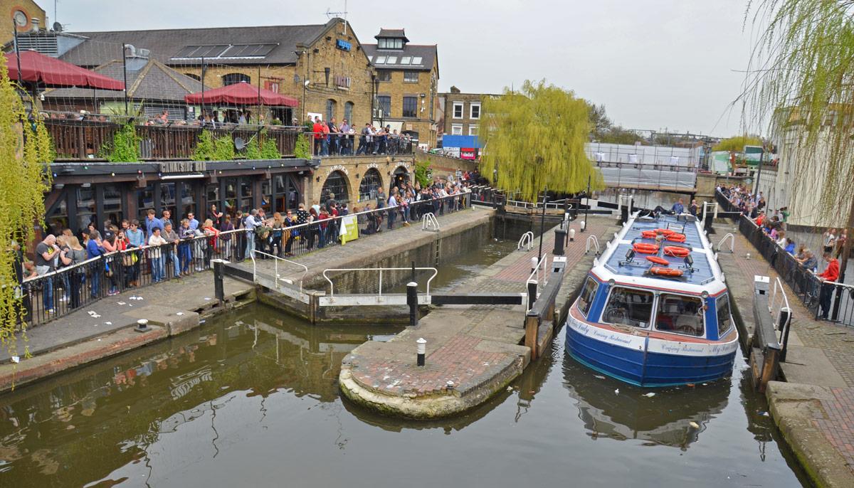 Canal Mercado de Camden Londres (Camden Town Market – London)