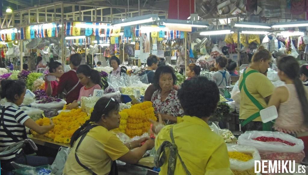 Pak Klong , Mercado de las Flores Bangkok