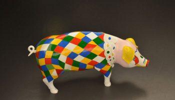 Lalín, cerdo arlequín. Pigparade