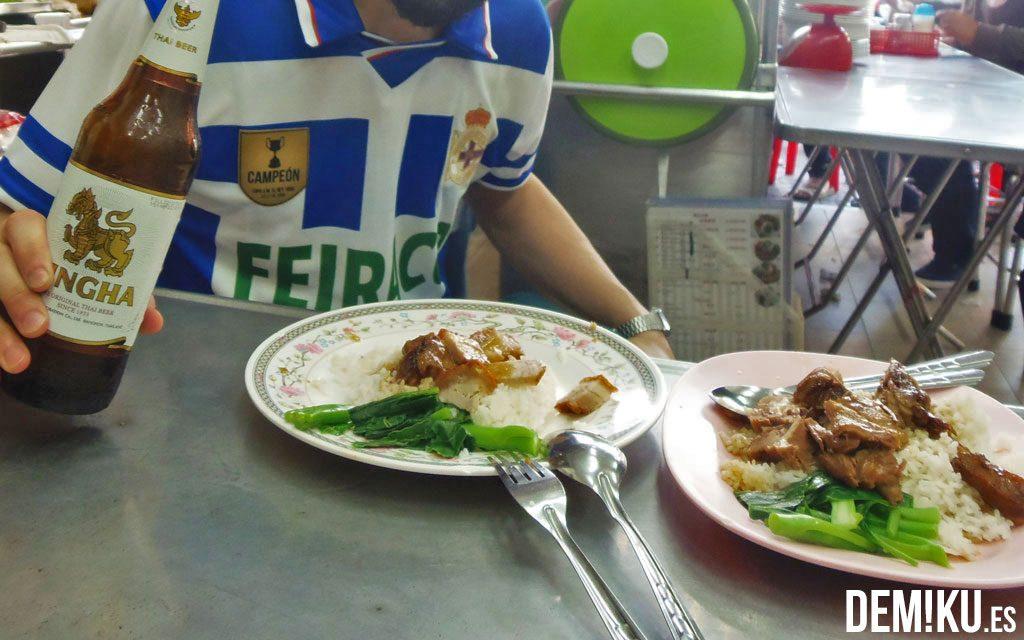 Comer en Chinatown en Bangkok