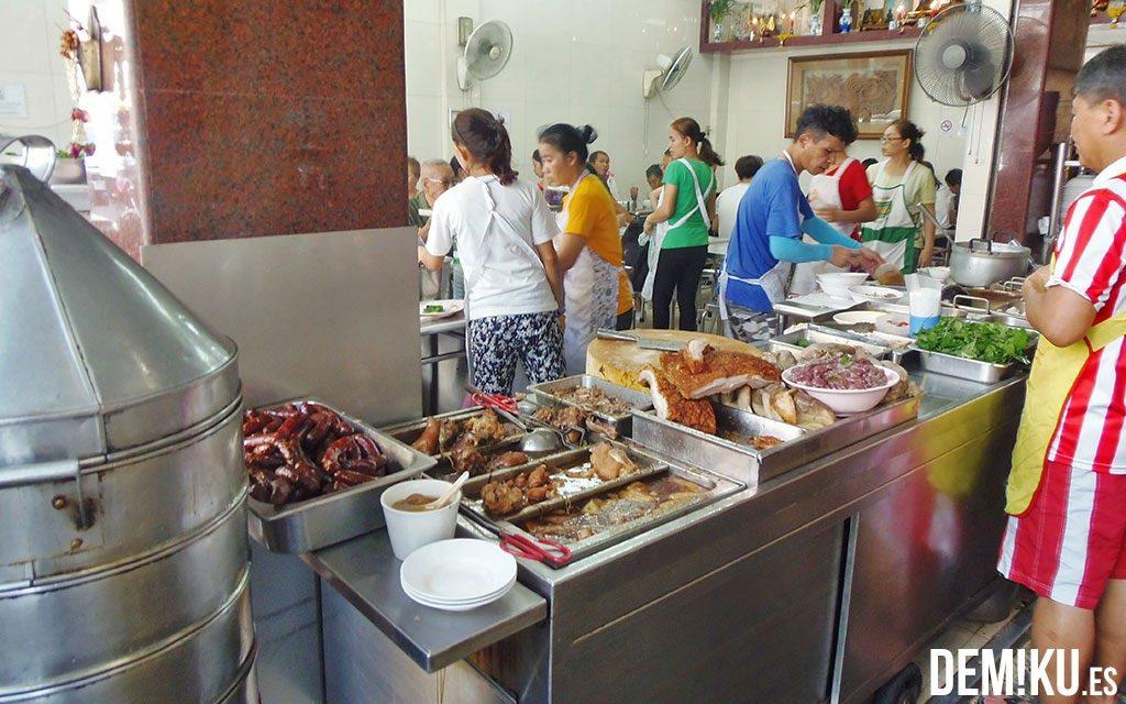 Restaurante en Chinatown en Bangkok