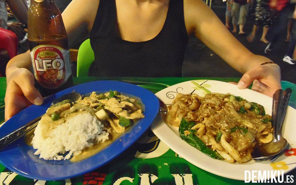 Cenar en Bangkok