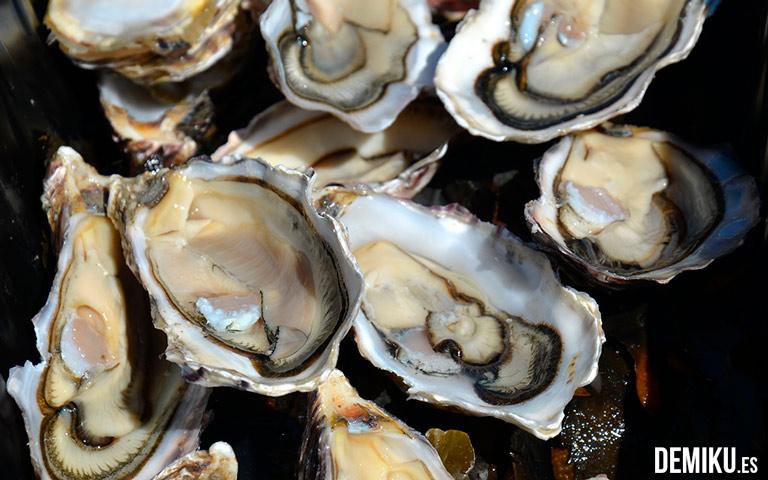 Nuestras ostras de Cancale