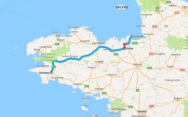 Ruta Quimper - Cancale - Dinan