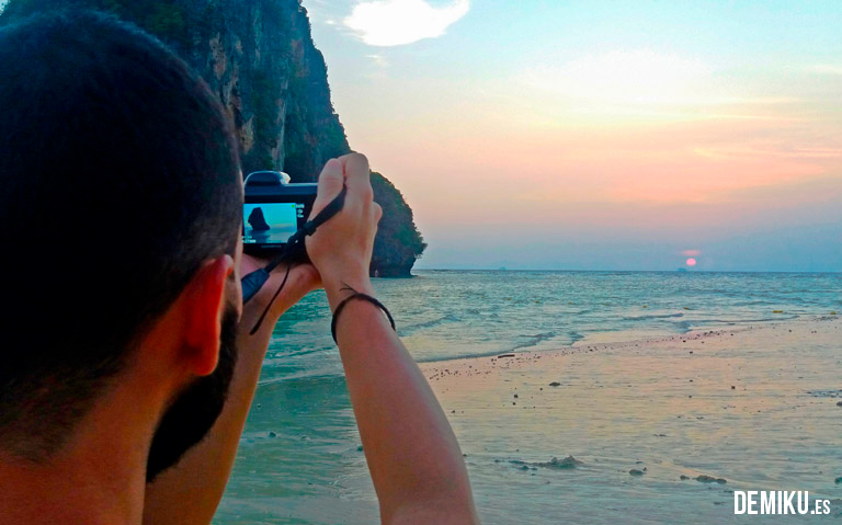Puesta de sol Phra Nang